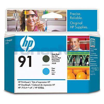 HP NO 91 PRINTHEAD MATTE BLACK AND CYAN
